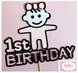 1 St Birthday (Girl) ( vanaf 1,75 per stuk)