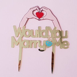 Acryl topper Would you marry me