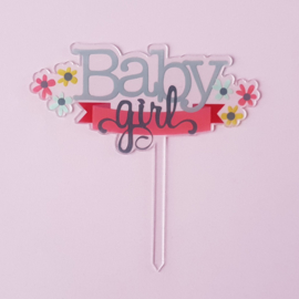 Acryl topper Baby girl