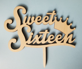 Topper (van hout) Sweet sixteen