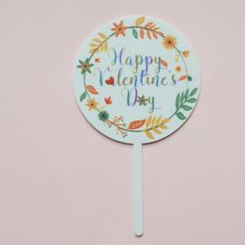 Acryl topper Happy valentine ( 2 kleuren)