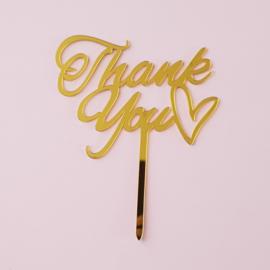 Acryl topper Thank you