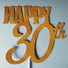 Topper Happy 10/20/30/40/50/60 th (papier/karton)
