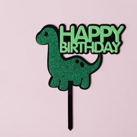 Acryl topper Happy birthday dino