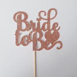 Topper Bride to Be (papier/karton)