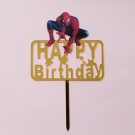 Acryl topper Happy birthday superheld