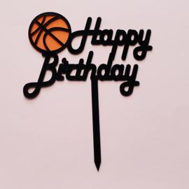 Acryl topper happy birthday basketbal