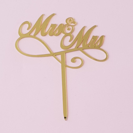 Acryl topper Mr & Mrs