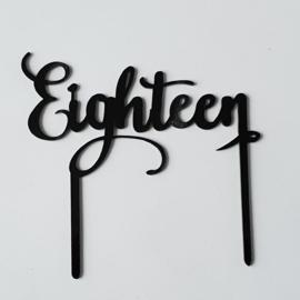 Acryl topper eighteen