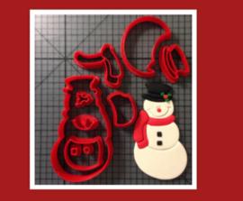 3-D uitsteker sneeuwpop  ( 5 / 7,5 en 10 cm)