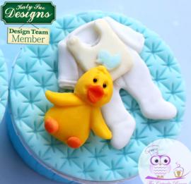 Baby chick sugar button mold ( Katy Sue)