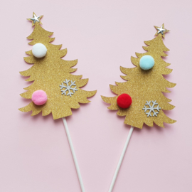Kerstboom toppers ( 2 stuks)