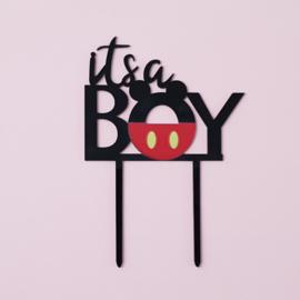 Acryl topper it's a boy