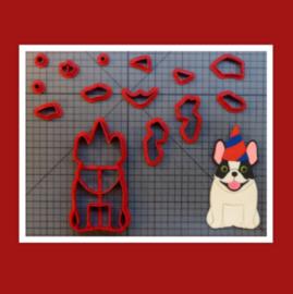 3D uitsteker Happy birthday dog 10 cm
