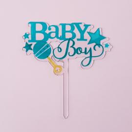 Acryl topper Baby boy