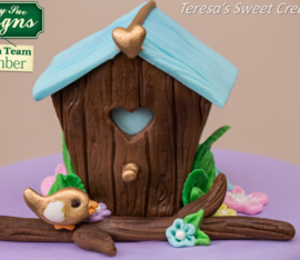 Birdhouse sugar buttons (Katy Sue)
