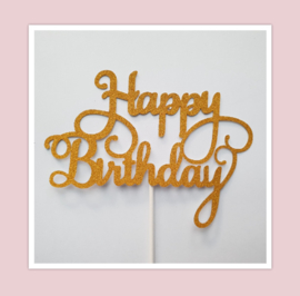 Aanbieding happy birthday topper  ( 10 stuks)