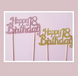 Topper Happy 18 th Birthday