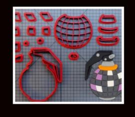 3-D uitsteker handgranaat (7,5 en 10 cm)