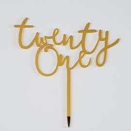 Acryl topper twenty one ( 4 kleuren)
