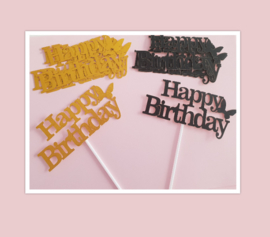 Aanbieding happy birthday topper set ( 10 stuks)
