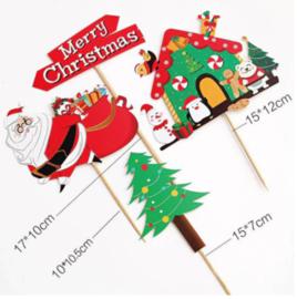 Kerst topper setje ( 4 delig)