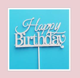 Aanbieding happy birthday toppers ( 10 stuks)