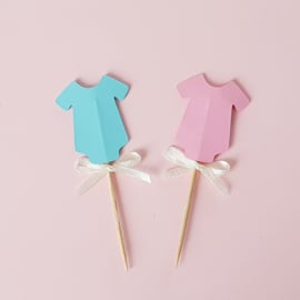 Gender reveal toppers ( 2 stuks)