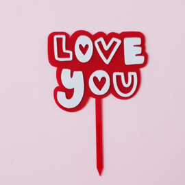 Acryl topper Love you