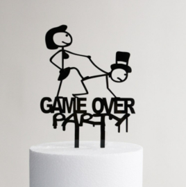 Acryl topper Game over party