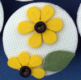Stitched flowers Blossoms ( Katy Sue)