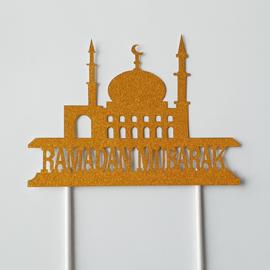 Ramadan mubarak  topper ( papier/karton)