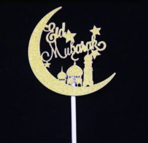 Eid Mubarak toppertjes ( set van 2 stuks)