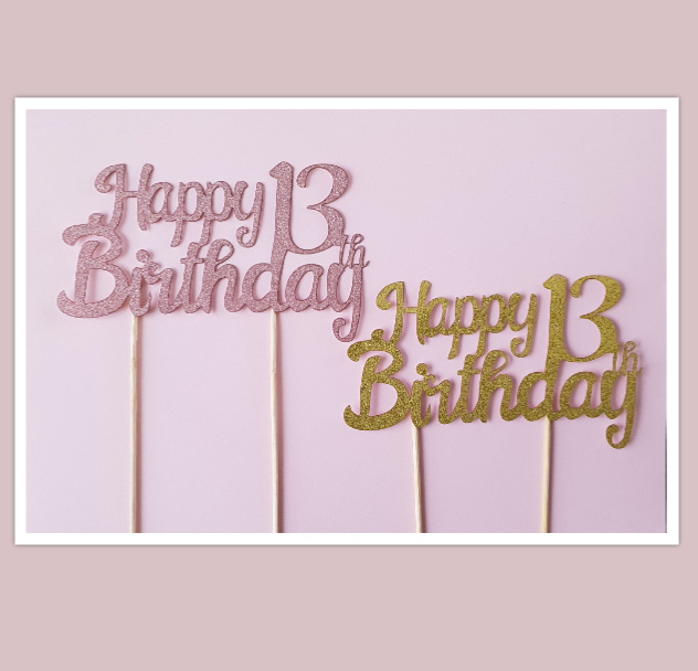 Topper Happy 13 th Birthday