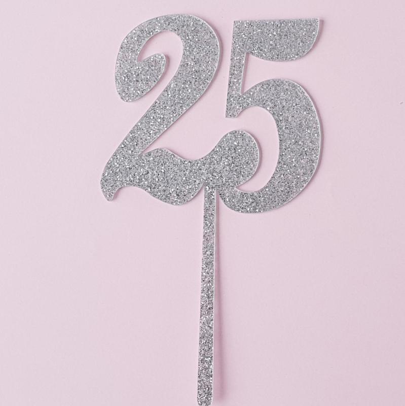 Acryl topper 25 ( glitter)