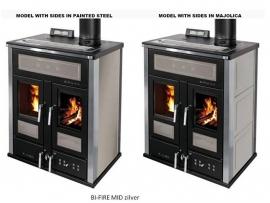 BI-FIRE MID hout en pellets 27.3 kW - keramiek bekleding