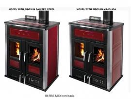 BI-FIRE MID hout en pellets 33 kW staal bekleding