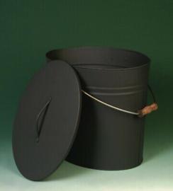 As-emmer met deksel, verzinkt, antraciet, 34x24x30 cm