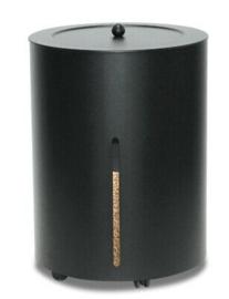 Pelletbox, zwart, rond, 38 cm x 50 cm hoog