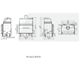 Pec Aqua 80 EVO cv-houthaard met draaideur