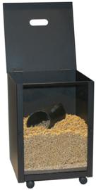 Pelletbox, zwart, vierkant,  39x52x39 cm