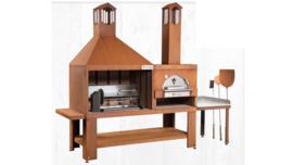 Buitenhaard en pizzaoven Corten staal  TF980C