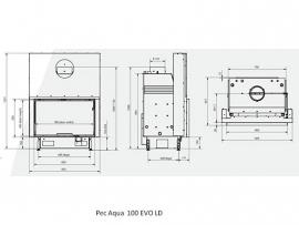 Pec Aqua 100 EVO met liftdeur, inclusief vrijstaande ombouw houthaard