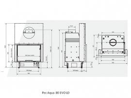 Pec Aqua 80 EVO LD met liftdeur CV-houthaard