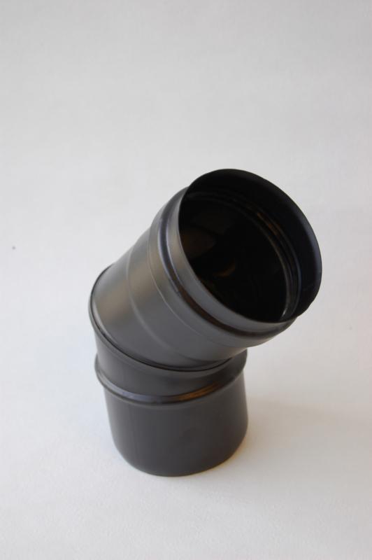 Enkelwandig 45 graden bocht (80mm)