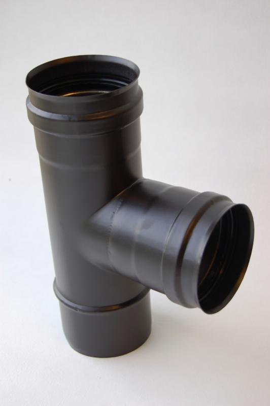 Enkelwandig t-stuk (80mm)