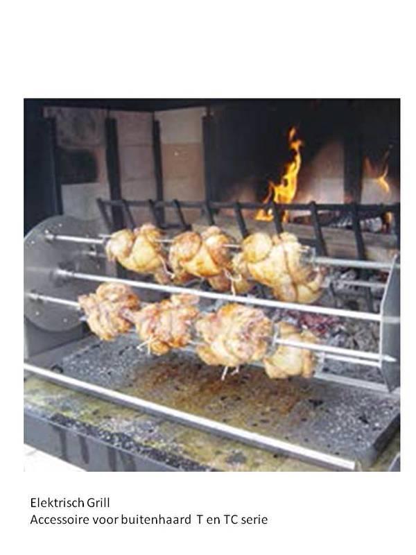 Elektrische grill Meat Fire 1100 voor de buitenhaard