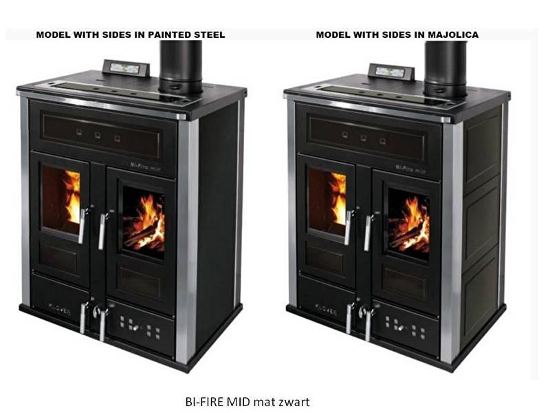 BI-FIRE MID hout en pellet 27,3 kW - staal