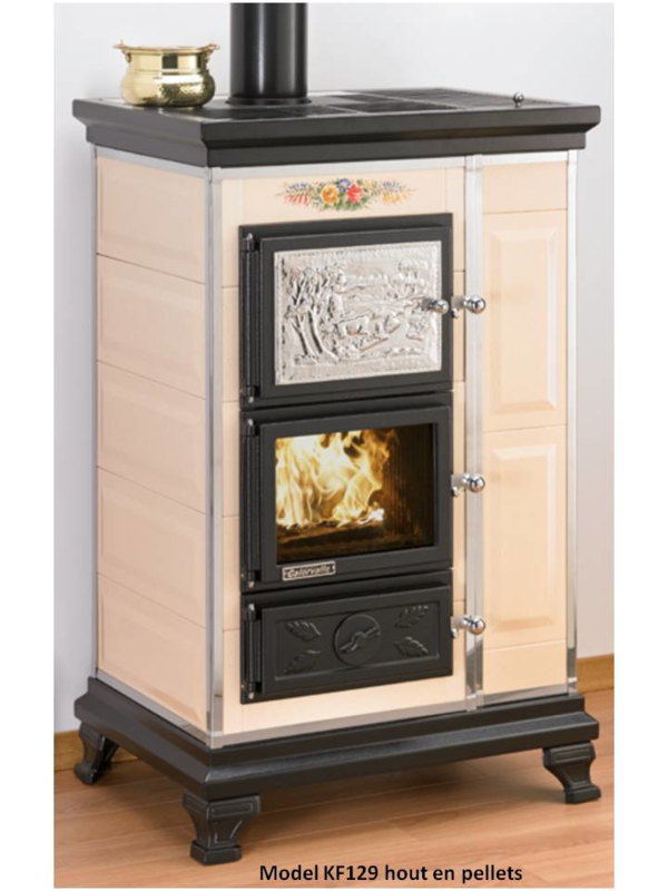 Combi hout en pellet kachel met oven  KF129 (KF1297650)