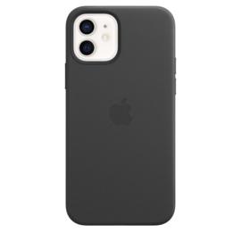 iPhone 12 & 12 Pro: leather case (zwart)